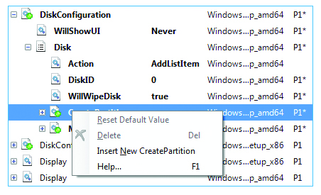Create new partition on the drive