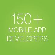 150+ mobile app developers