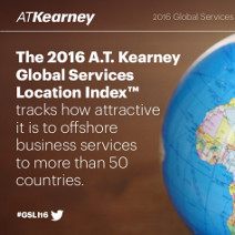 A.T. Kearney 2016 Global Services Location Index