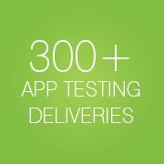300+ application testing deliveries