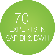 70+ Experts in SAP BI & DWH