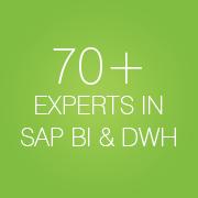 70+ Experts in SAP BI & DWH