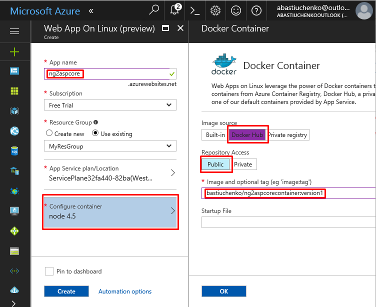 Tutorial: Creating ASP.NET Core + Angular 4 app in Docker container connected to SQL Azure Database - Infopulse - 920762
