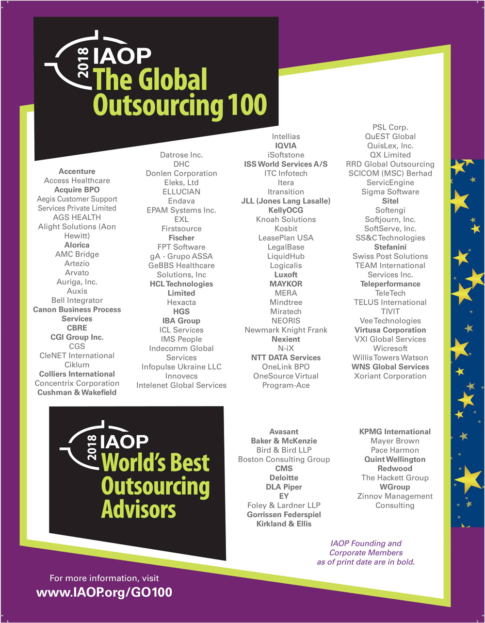 Infopulse Named Among Leading Global Outsourcing Providers 2018 by IAOP - Infopulse - 1