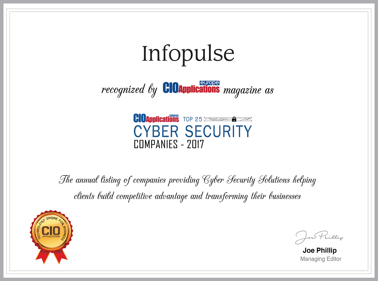 Infopulse Recognized Among Top 25 Cyber Security Companies in Europe - Infopulse - 006655