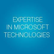longstanding-expertise-microsoft-technologies-slogan-bubbles