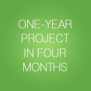 ein Ein-Jahres-Projekt in vier Monaten