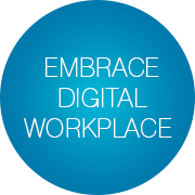 steps-adopt-digital-workplace-slogan-bubbles