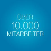 Über 10.000 Mitarbeiter