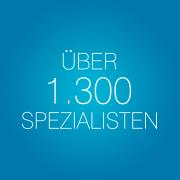 Über 1.300 Spezialisten