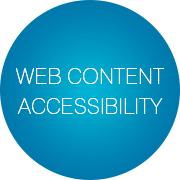 web-content-accessibility-slogan-bubbles